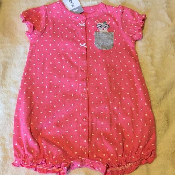 e3b12e711 Carter's One Pieces | Carters Polka Dot Romper Baby Girl Size 9m ...